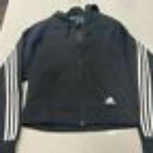Adidas Black 3 Stripe Hoodie New without Tag